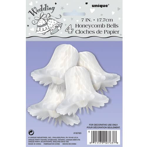white-honeycomb-bells-17cm-pack-of-4-product-image
