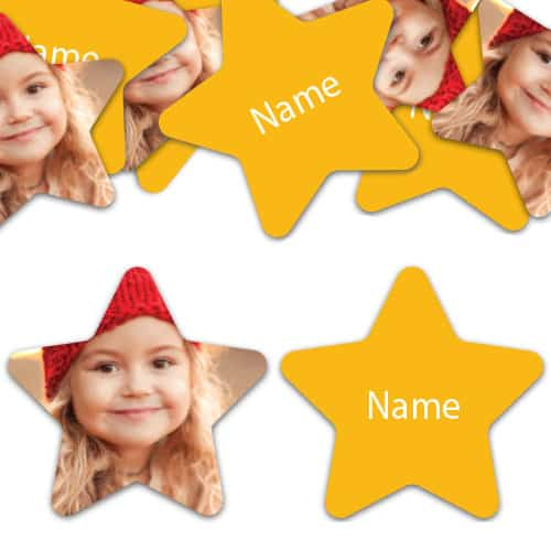 STAR Shape - Yellow Personalised Confetti - Pack of 50