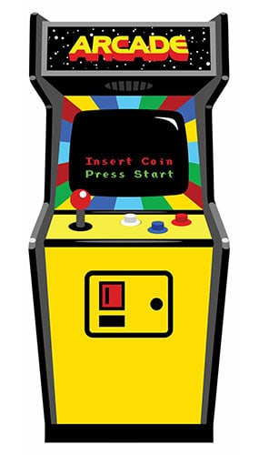 1980s Colour Video Arcade Game Lifesize Cardboard Cutout - 184cm Product Gallery Image