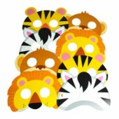 Animal Jungle Paper Face Mask – Pack of 8
