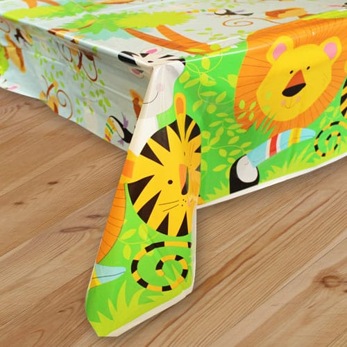 Animal Jungle Plastic Tablecover 213cm x 137cm