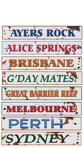 Australian Sign Decorations - 61cm - Pack of 8 Product Image