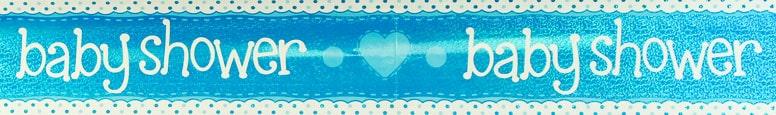 Baby Shower Blue Foil Banner 270cm