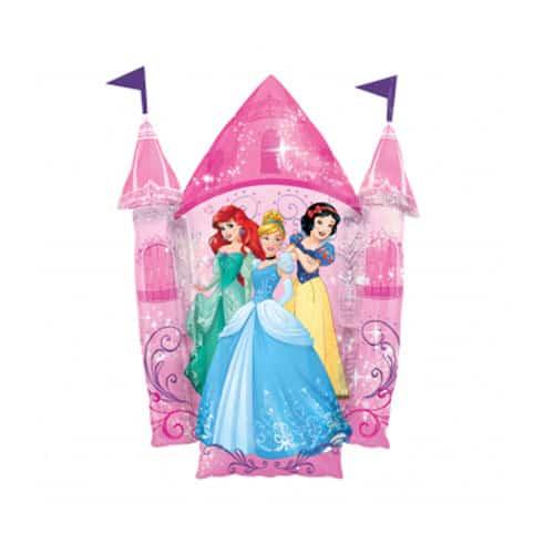 Disney Princess Castle Supershape Foil Helium Balloon 88cm / 35Inch