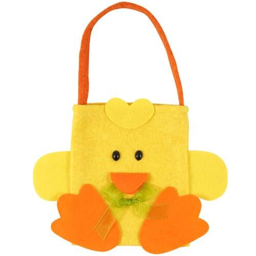 Easter Chick Design Felt Bag - 17cm
