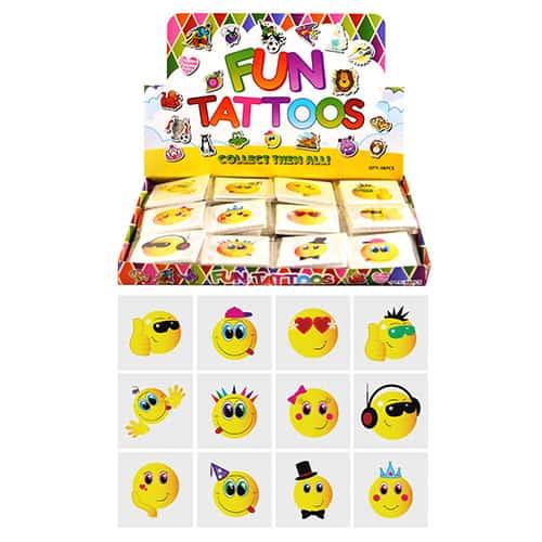 Emoji Designs Tattoo Stickers - Pack of 12