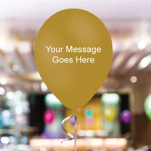 Gold Personalised 11 Inch Latex - 35 Balloons