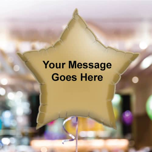 Personalised Gold Star Foil Balloon - Pack of 10