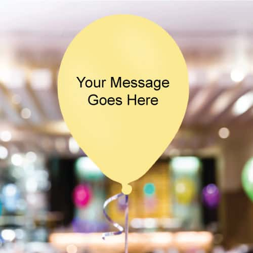 Ivory Personalised 11 Inch Latex - 35 Balloons