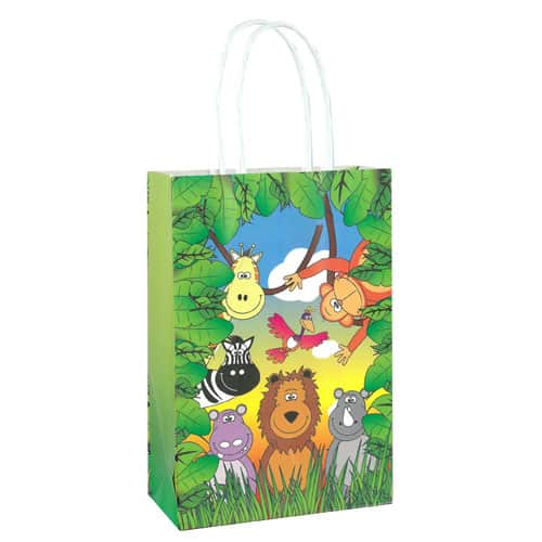 Jungle Animals Paper Bag With Handles 21cm