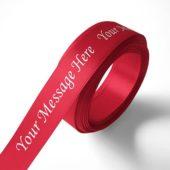Personalised 15mm Red Ribbon Elan Single Faced Satin