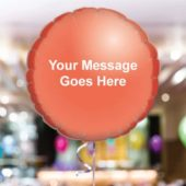 Personalised Red Round Foil Balloon – Pack of 10