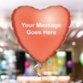 Personalised Red Heart Foil Balloon – Pack of 10