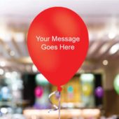 Red Personalised 11 Inch Latex – 35 Balloons