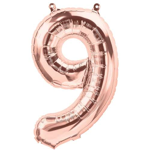 rose-gold-number-9-foil-balloon-33cm-product-image