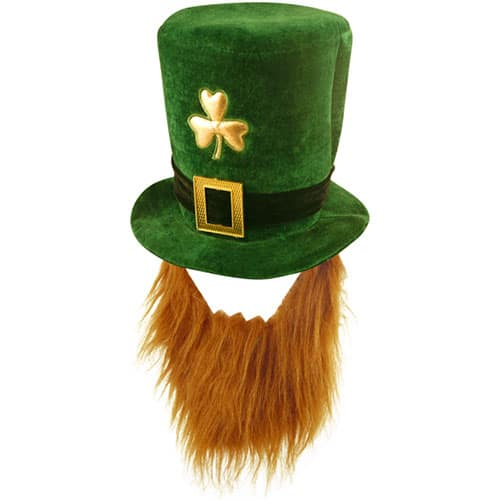 St Patricks Day Hat with Ginger Beard