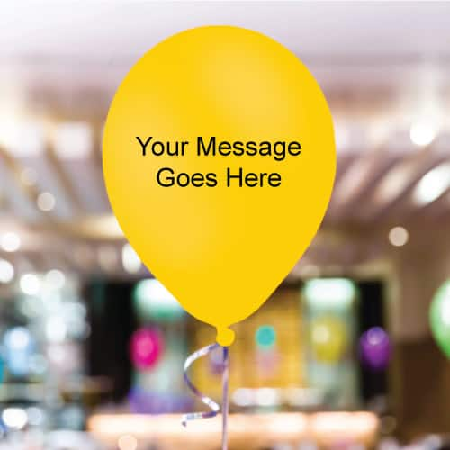 Yellow Personalised 11 Inch Latex - 250 Balloons