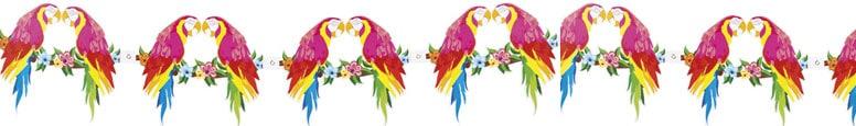Aloha Parrot Design Garland 300cm