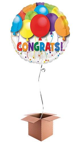 Balloons Congratulations Foil Balloon - Inflated Balloon in a Box