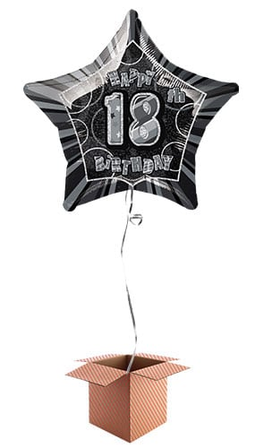 BLACK GLITZ 18 Prism 18th Birthday Hanging Party Decorations 6 Strings 5ft Each