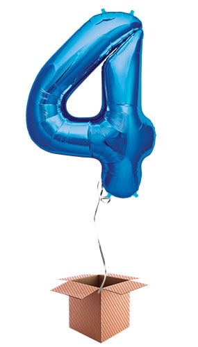 blue-number-4-supershape-86cm-foil-balloon-in-a-box-image