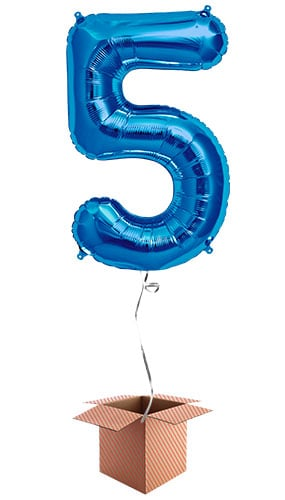 blue-number-5-supershape-86cm-foil-balloon-in-a-box-image