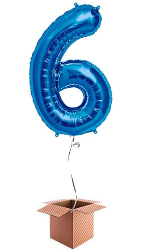 blue-number-6-supershape-86cm-foil-balloon-in-a-box-image
