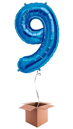 blue-number-9-supershape-86cm-foil-balloon-in-a-box-image