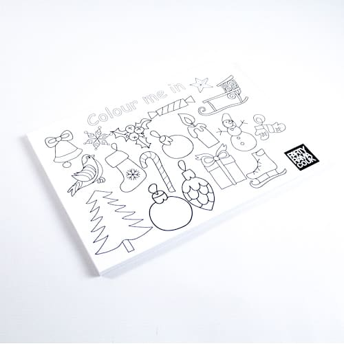 Christmas Themed A4 Colouring sheet