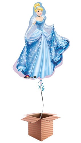 Cinderella Princess Helium Foil Giant Balloon - Inflated Balloon in a Box