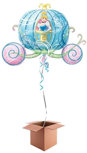 Cinderellas Carriage Helium Foil Giant Balloon - Inflated Balloon in a Box