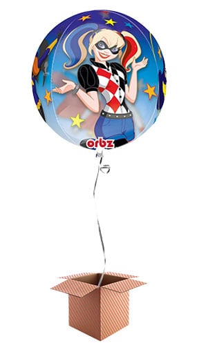 DC Super Hero Girls Orbz Clear Balloon - Inflated Balloon in a Box