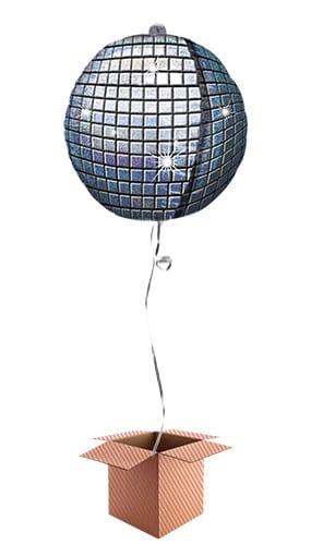 Disco Ball Holographic Helium Foil Giant Balloon - Inflated Balloon in a Box