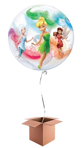 Disney Fairies Bubble Qualatex Balloon - Inflated Qualatex Balloon in a Box Product Image