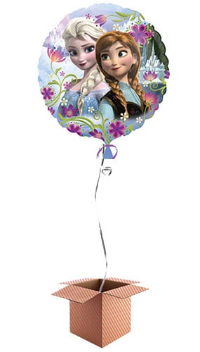 Disney Frozen Anna & Elsa Round Foil Balloon - Inflated Balloon in a Box Product Image