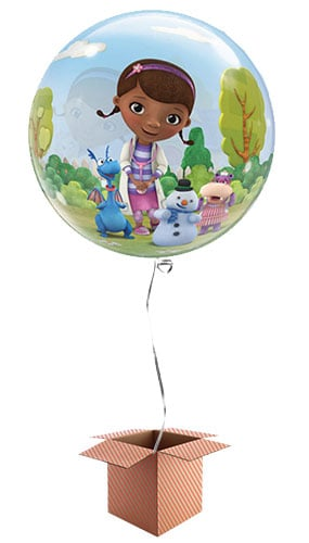 Doc McStuffins Bubble Helium Qualatex Balloon - Inflated Qualatex Balloon in a Box Product Image