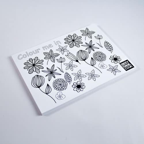 Flowers Themed A4 Colouring sheet