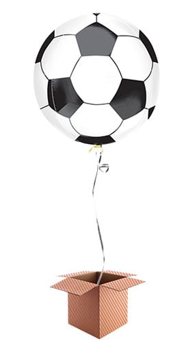 Football Orbz Foil Balloon - Inflated Balloon in a Box