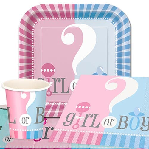 Gender Reveal Theme 8 Person Value Party Pack