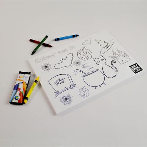 Halloween Themed A4 Colouring sheet With 4 Crayons Product Image