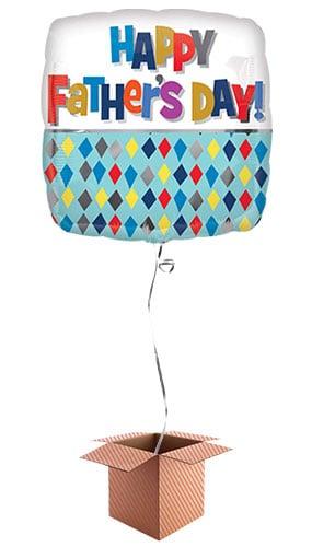 happy-fathers-day-diamond-square-43cm-foil-balloon-in-a-box-image