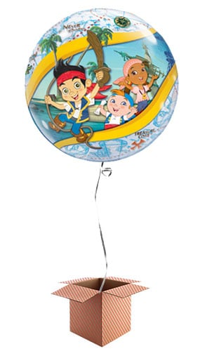 Jake And The Never Land Pirates Bubble Helium Qualatex Balloon - Inflated Balloon in a Box