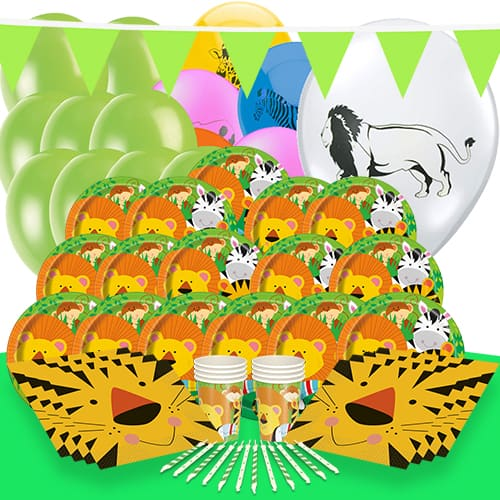 Jungle Animals Theme 16 Person Delux Party Pack