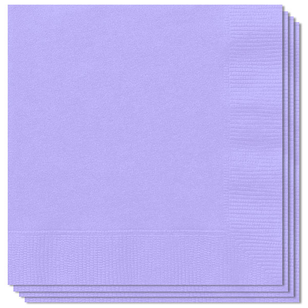 Lilac 2Ply Napkins 33cm Pack Of 100