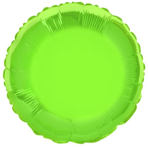 Lime Green Round Foil Helium Balloon 46cm / 18Inch