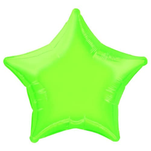 Lime Green Star Shape Foil Helium Balloon 51cm / 20Inch