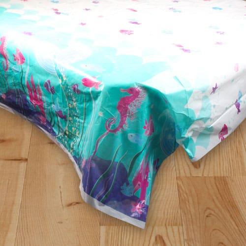 Mermaid Plastic Tablecover 213cm x 137cm