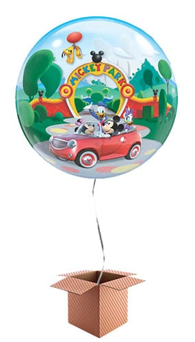 Mickey Mouse Clubhouse Park Bubble Qualatex Balloon - Inflated Qualatex Balloon in a Box Product Image