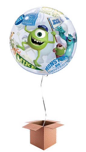 Monsters University Bubble Helium Qualatex Balloon - Inflated Qualatex Balloon in a Box Product Image