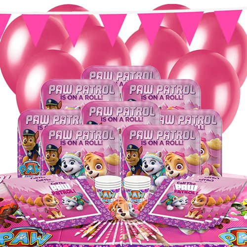 Paw Patrol Pink 8 Person Delux Party Pack
